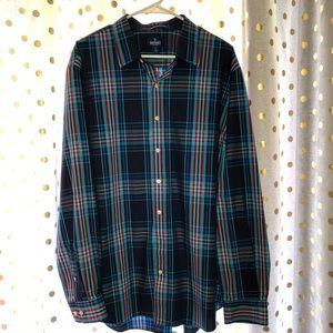 NWOT men's Old Navy plaid button down shirt XXL